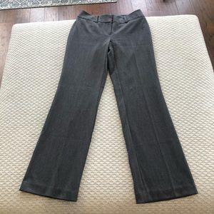 LOFT outlet gray curvy fit pants size 0